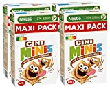 Nestlé CINI MINIS Zimt Müsli (32% vitales Vollkorn, mit Vitaminen, Calcium und Eisen, Krunchy Knusper Flakes) 4er Maxipack (4 x 625 g) -