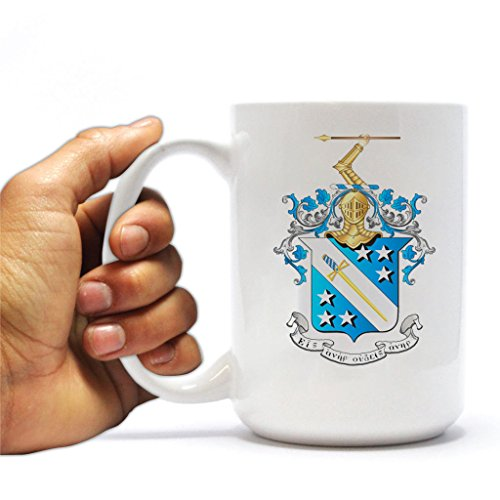 VictoryStore Ceramic Mugs - Phi Delta Theta, Crest Coffee Mug, 15 ounces