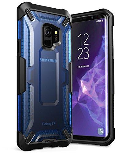 SupCase Samsung Galaxy S9 Hülle, [Unicorn Beetle] Handyhülle Premium Case Slim Hybrid Schutzhülle Transparent Cover für Samsung Galaxy S9 2018, Frost/Blau