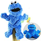 NC56 Sesame Street The Muppet Show Plush Toy Sesame Plush Hand Puppet Toy Sesame Street Plush Cookie Monster Hand Puppet Play Games Doll Toy Puppets Children s Educational Toy 31cm/Blue Size