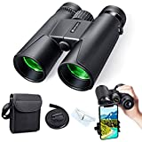 Powerful Adult Binoculars, 12x50 HD Compact Binoculars for Bird Watching, Camping, Hiking, Low