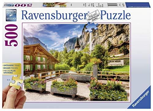 Ravensburger Puzzle 13712 - Lauterbrunnen - 500 Teile Puzzle für Erwachsene und Kinder ab 10 Jahren, Puzzle mit größeren Teilen