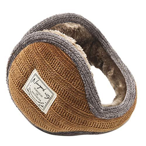 DaMohony Unisex Winter Earmuffs, Folding Ear Covers Behind The Head Style Ear Warmer for Men Women