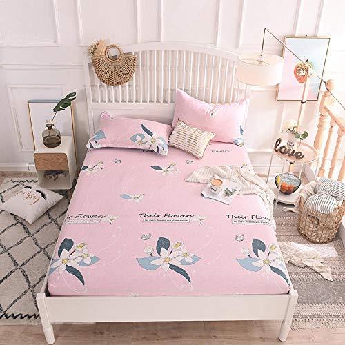 HPPSLT Protector de colchón/Cubre colchón Acolchado, Ajustable y antiácaros. Sábana de algodón Antideslizante de una Sola pieza-17_1.2 * 2m