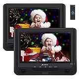 PUMPKIN Lecteur DVD Portable Voiture 2 ecrans d'appuie-tête 9 Pouce Autonomie de 5...