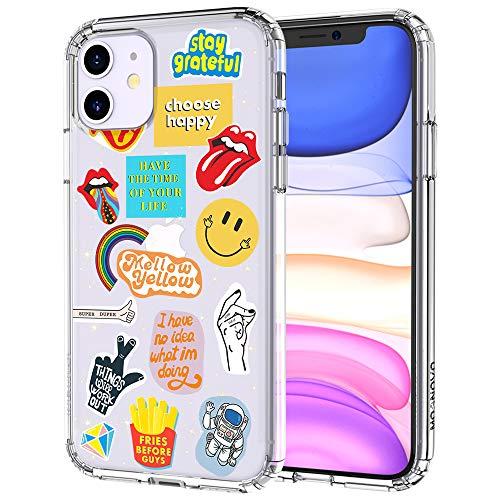MOSNOVO iPhone 11 Hülle, Popkultur Muster TPU Bumper mit Hart Plastik Hülle Durchsichtig Schutzhülle Transparent für iPhone 11 (2019) (Pop Culture)