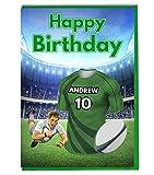 Maillot de rugby carte d'anniversaire–Pau Couleurs–personnalisé avec un nom et numéro