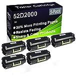 Paquete de 5 cartuchos de impresora láser MS810de MS810dn MS810dtn MS810n MS811dn MS811dtn MS811n (alta capacidad) de repuesto para Lexmark 52D2000