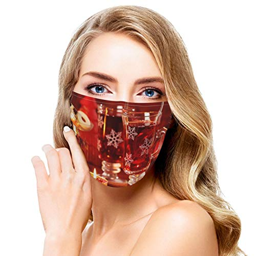 Washable Face Mask Candlelight Black Tea Reusable and Adjustable Protective Face Cover Multi-Functional Outdoor Sports Bandana