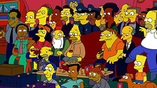 Cartoon Poster Print,Main Characters Wall Decoration,Simpsons Watercolor Print,Homer Artwork (S - 11'' x 17'')