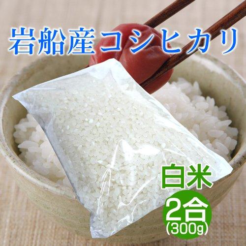 新潟岩船産コシヒカリ 2合(300g)/お米1回炊き分 一人暮らし 単身赴任 少人数のご家庭に