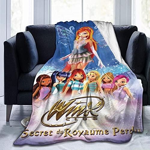 Winx Club Ultra Soft Micro Fleece Blanket Boys/Girls/Teen/Kid Warm Flannel Blankets and Throw Blankets All Season Sofa Bed Blanket and Living Room,60'X50'
