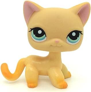 kenven Littlest Pet Shop Animals LPS #339 Yellow & Orange Shorthair Kitty Cat Rare