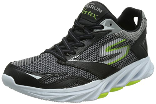 Skechers Men's Go Run Vortex Black and Lime Running Shoes - 10...