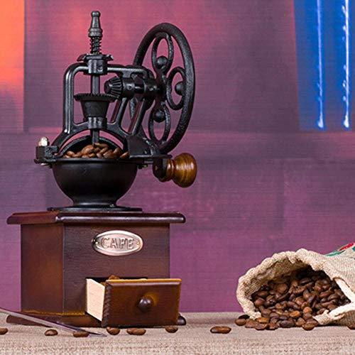 Qingsb Retro handgemaakte handmatige koffiemolen Wielontwerp Koffiezetapparaat Machine slijpgereedschap Koffiezetapparaat Keukenaccessoires, chocolade