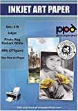 PPD Inkjet Photo Rag Fine Art Giclee Archival Radiant White Paper 8.5x11' 72lbs 270gsm x 25 Sheets (PPD078-25)