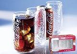 Coca Cola 'CAN klar' 3er Gläser Set a 0,3l wie Cola Dose NEU