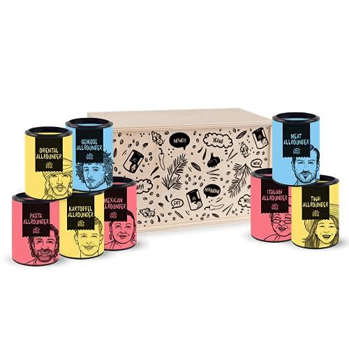 Just Spices Gewürze aus aller Welt I Allrounder Gewürz-Set mit 8 Gewürzmischungen I Geschenkset für Frauen und Männer