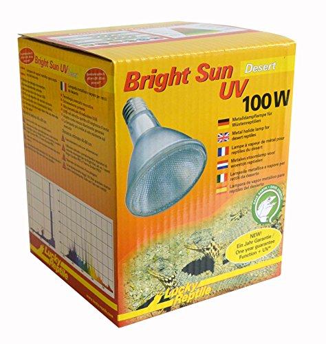 Lucky Reptile Bright Sun UV Desert, metalen damplamp voor E27-fitting met UVA- en UVB-straling, 100 watt (voorschakelapparaat vereist).