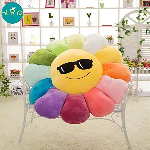 XRQ Gran Sun Flower Cushion Plush Toy Cama para Niños, Oficina Sofá Almohada Cojín Decoración del Hogar Regalo De Cumpleaños,Color4,90cm