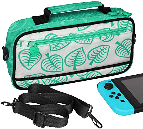 LYCEBELL Portable Carrying Case for Nintendo Switch Travel Storage Messenger Bag Case Holds up to 10 Game Cards Slots - [Turquoise Blue Edition]