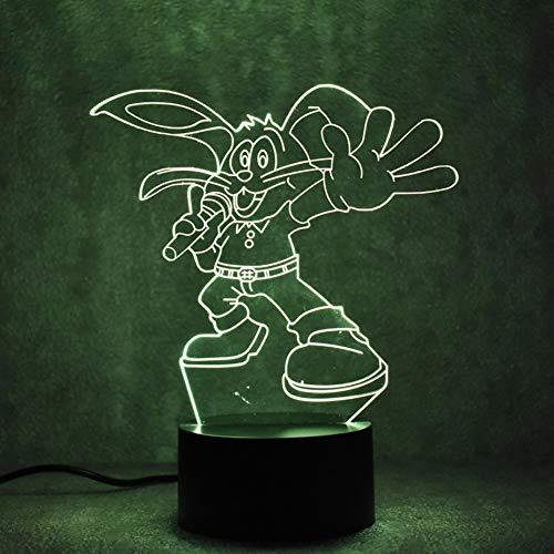 Nouveauté 3D LED Lampe de Table USB Luminaire Visuel Chevet Veilleuse Pour Enfants Cadeau Chat Lampe Bébé Dormir Nuit Lumière Kitty Décor