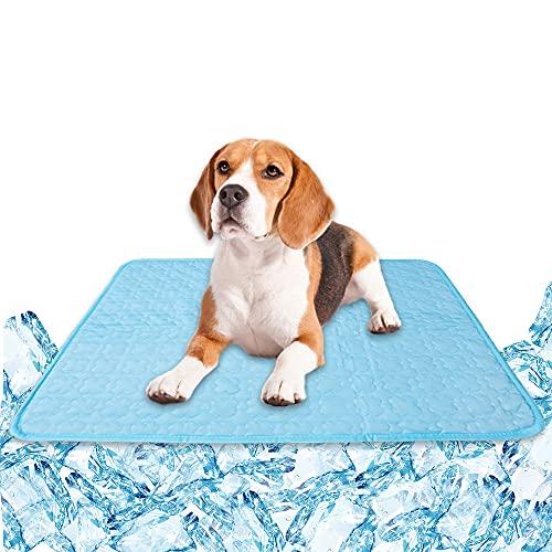 Kühlmatte Selbstkühlende Matte Hundematten Hundedecke Kaltgelpad für Hunde Katzen Haustier Blau