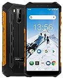 Ulefone Armor X5(2020) Rugged Smartphone, 5.5 Inch Android 9 3GB + 32GB(up to256GB) 5000mAh Unlocked Cell Phones,13MP Dual Rear Cameras 4G Dual SIM Phones IP68 Waterproof NFC OTG WiFi Face ID Orange