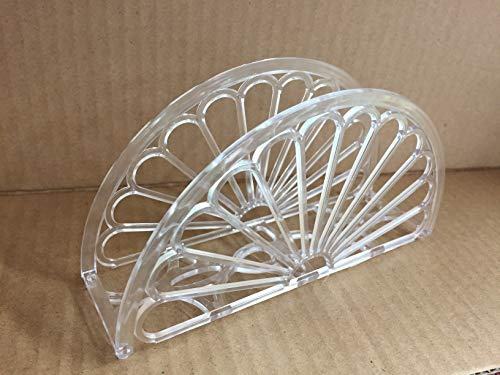 "7"" Napkin Holder - Fan Design 12 Pieces / Clear"
