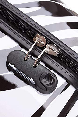 BEIBYE BEIBYE Reisekoffer Hartschalen Hardcase Trolley Zahlenschloss Polycarbonat Set-XL-L-M- Beutycase (Zebra, XL)