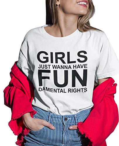 Camiseta para Mujer - Girls Wanna Have Fundamental Rights - Fashion Slogan Camiseta