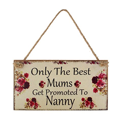 WINOMO Only the best Mums Get Promoted to Nanny Wall Plaque Sign Mum Gif