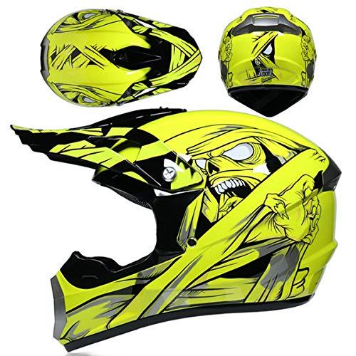 Motocross Helm Set Cross Helmset Motorrad Offroad Enduro Downhill Helm ATV MTB BMX...