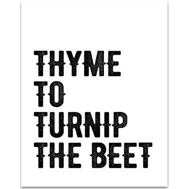 Thyme to Turnip the Beet - 11x14 Unframed Typography Art Print - Great Kitchen Decor