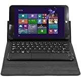 Talius CV-3005 - Funda Tablet 8', Teclado con Touch, Seguro magnetico, Color Gris Oscuro