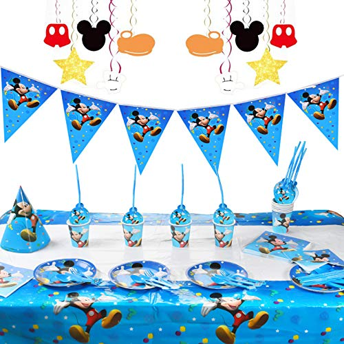FGen Decoration Anniversaire, Decoration Anniversaire Fille, Decoration Anniversaire Mickey, Mickey...