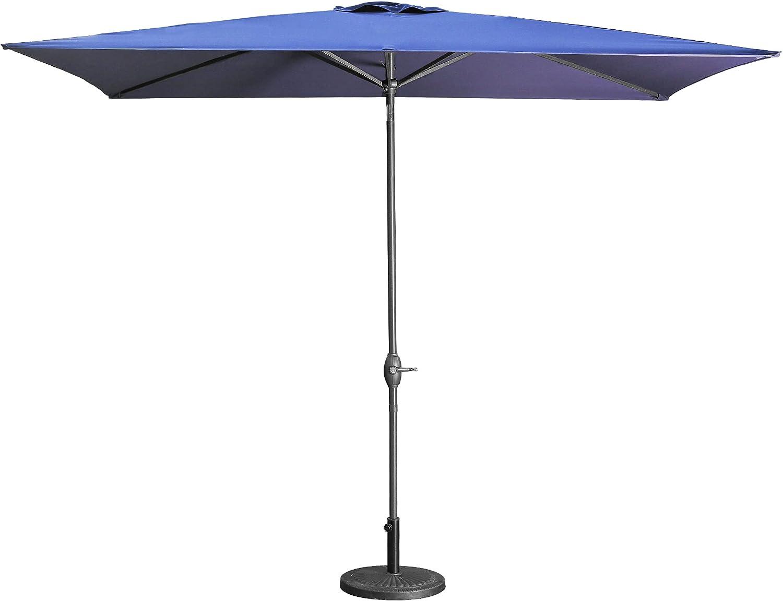 Some reservation Aok Garden Patio Umbrella Rectangular 6.5×10Ft Outdoor Cheap SALE Start Table