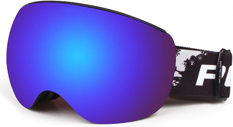 Yxx max Ski Glasses Double Anti-fog Large Field Of View Outdoor Climbing Goggles Adult Myopia Ski Glasses