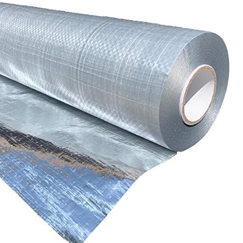 Original AtticFoil Radiant Barrier HouseWRAP/Single Sided Foil - 1000 sq ft roll / 48' x 250ft. Pure...