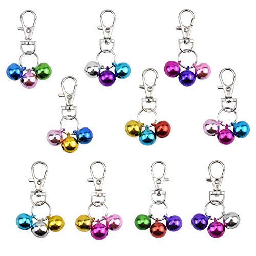 NATUCE 10Pcs Pet Collar Bells, Bells for Dogs Bells for Cats, Colourful Dog Cat Charm Bells for Collars Pendant Accessories