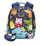 Mochila con diseño de animales para niños pequeños y niñas, mochila escolar con correa...