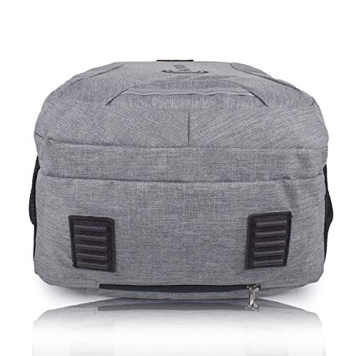 Half Moon 35 L Casual Waterproof Laptop Bag/Backpack for Men Women Boys Girls/Office School College Teens & Students with Rain Cover (18 Inch) (Grey)