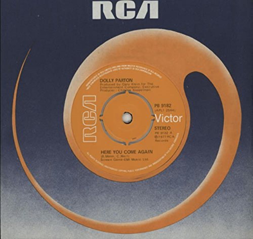 DOLLY PARTON here you come again/me & little andy RCA 11123 (45 single vinyl record)