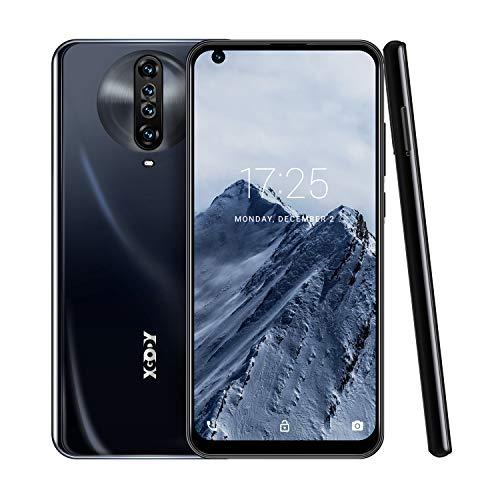 6.8 Inch Unlocked Smartphones,Xgody K30 Android 10.0 Cell Phone Cheap,Dual Sim Free Phones,Dual 5MP + 64GB Storage(Black)