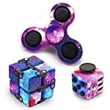 Infinity Cube Fidget Pop Spinner Toys Mini Handheld Dice 3 Pack Fidget for Stress Anxiety Relief Toys for Adults and Children Kids ADHD Sensory Toy Gift Killing Time Fun