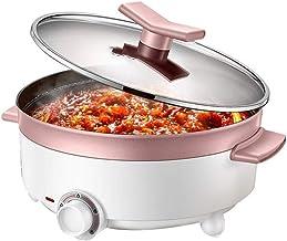 DYXYH Hot Pot électrique Accueil multifonctionnel étudiant Dortoir électrique de cuisson antiadhésif Poêle électrique Poêle