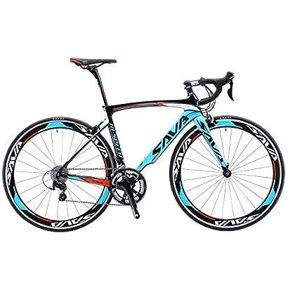 SAVADECK Bicicleta de Carretera de Carbono, Warwinds5.0 700C de Fibra de Carbono con Sistema de Cambio Shimano 105 R7000 22S,Neumáticos Continental Ultra Sport 25C y Doble Freno en V