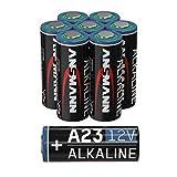 Ansmann A23 Lot de 8 Piles alcalines 12 V MN21 pour systèmes d'alarme, ouvre-Porte de Garage, télécommande et Bien Plus Encore, Batterie jetable