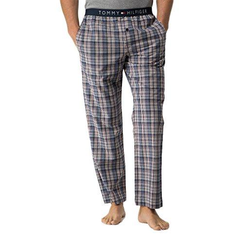 Tommy Hilfiger Icon Woven Pant Check Bas de Pyjama, Bleu-Bleu Marine Blazer (PT 416), Medium Homme