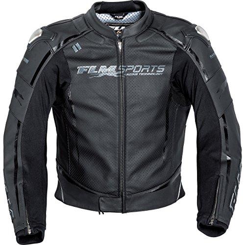 FLM Kombijacke Lederkombi Motorradjacke m. Protektoren Sports Leder Kombijacke 3.0 schwarz 54, Herren, Sportler, Sommer